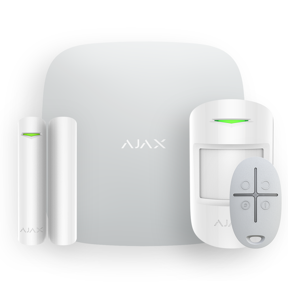 Комплект смарт-сигнализации с Hub Plus Ajax StarterKit Plus white